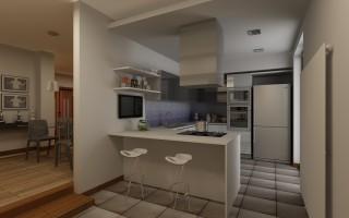 vista cucina a